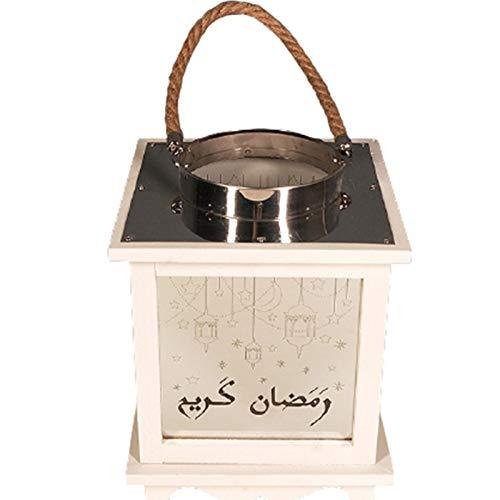 YHX Ranadan Eid al-Fitr Ramadán linternas, artesanías de farolillos de Madera, linternas árabes(Size:B)