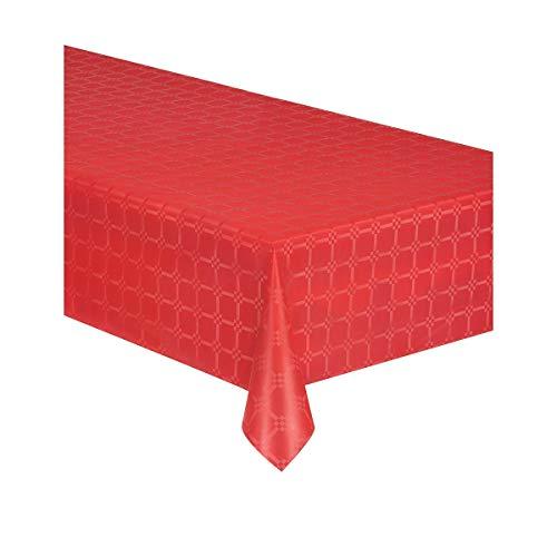 Generique - Nappe en Rouleau Papier damassé Rouge