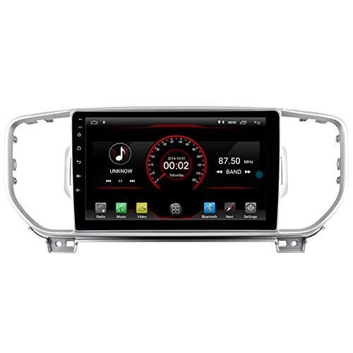 Autosion Android 10 Cortex A9 1.6 G Lecteur DVD de Voiture GPS Radio Head Unit Navi stéréo multimédia WiFi pour Kia Sportage 2016 2017 2018 Support Commande au Volant