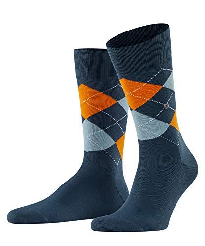 Burlington Herren Socken Manchester, Baumwolle, 1 Paar, Blau (Mood Indigo 6224), 40-46 (UK 6.5-11 Ι...