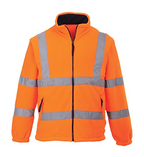 PORTWEST F300 - Warnschutz-Fleece-Jacke mitNetzfutter, 1 Stück, XL, orange, F300ORRXL