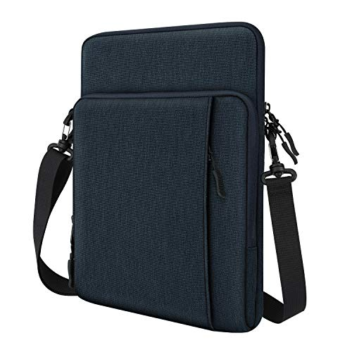 Dadanism 12.9 Inch Tablet Sleeve Shoulder Bag for New iPad Pro 12.9' 2018-2021, Protective Waterproof Pouch Case for 12.4' Samsung Galaxy Tab S7+, 12.3' Surface Pro 7/6/5/4, MacBook Pro 13' - Indigo