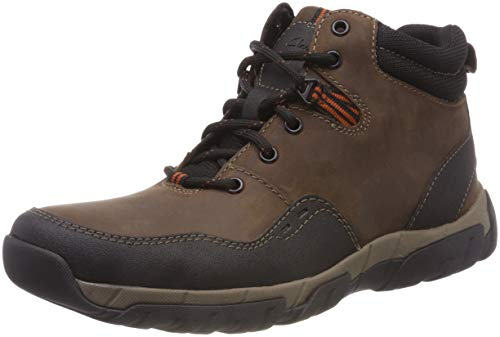 Clarks Herren Walbeck Top II Schneestiefel, Braun (Brown Leather), 43 EU