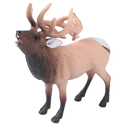 NUOBESTY Christmas Reindeer Figurine Artificial Deer Desktop Ornaments for Xmas Holiday Party Cake...