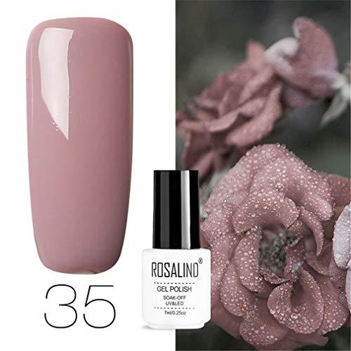 ROSALIND esmaltes semipermanentes kit uñas de gel kit uñas de gel kit uñas semipermanentes manicura 7ML