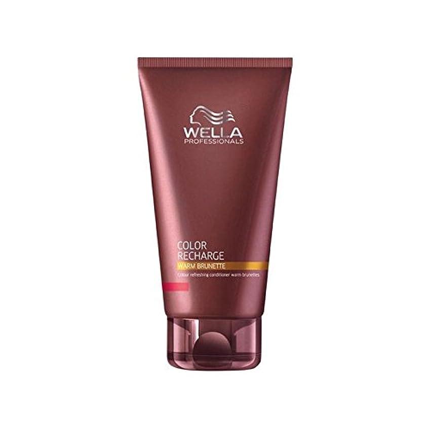 補助大脳食用Wella Professionals Color Recharge Conditioner Warm Brunette (200ml) (Pack of 6) - ウエラ専門家のカラー再充電コンディショナー暖かいブルネット(200ミリリットル) x6 [並行輸入品]