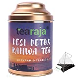 Tearaja Desi Detox Kahwa Tea, 30 Pyramid Tea Bags, Made with Ayurvedic Herbs & Ingredients to Boost Your Immunity detox products Dec, 2020