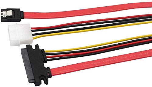 QiCheng&LYS 22 Pin SATA ATA de Datos y Power Combo Cable (sata22pin...