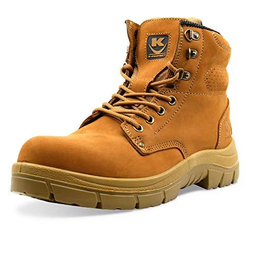K•PROTECT - Chaussure Haute de sécurité, Coque de Protection Composite, Semelle PPD-T Anti-Perforation, antidérapante S3 SRC (HRO 80°) Modèle Brad