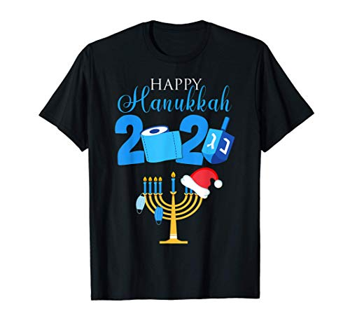 Happy Hanukkah 2020 Quarantine Hanukkah Jewish Face Mask T-Shirt