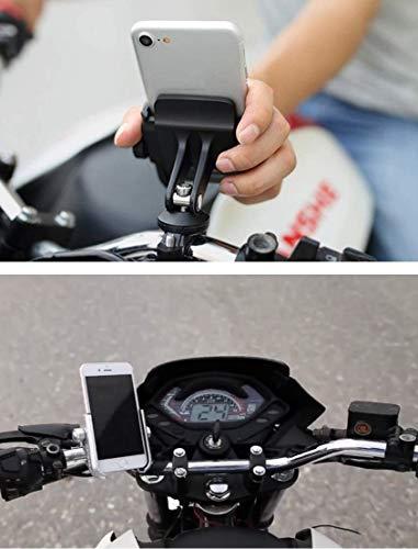 ニコマクNikoMakuバイク自転車兼用スマホホルダー固定力抜群アルミ製オートバイ360度回転ハンドルに取り付けすべてのバイクに対応4~6.6インチ携帯に対応設置簡単ブラック