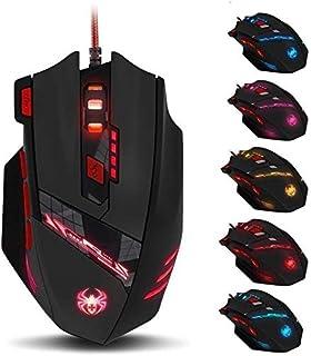 ZELOTES T90 Mouse da Gioco, ad Alta Precisione 9200 DPI Mouse Gaming con Design di 8 Pulsanti ,Cartucce di Peso Regolabile...