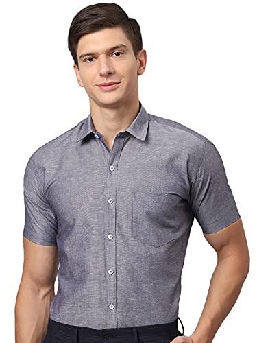 Arihant GHPC Plain Solid 100% Cotton Half Sleeves Regular Fit Formal Shirt for Men