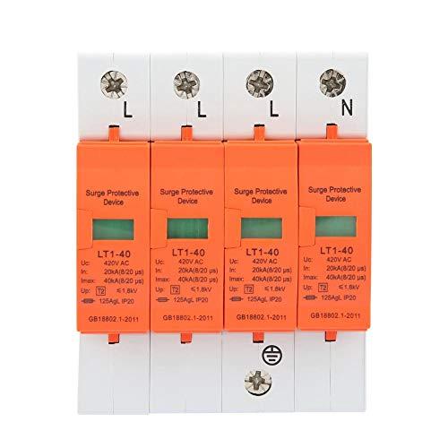 4P-Überspannungsschutz für den Haushalt, 40KA 420VAC Device Lightning Protector Schutz