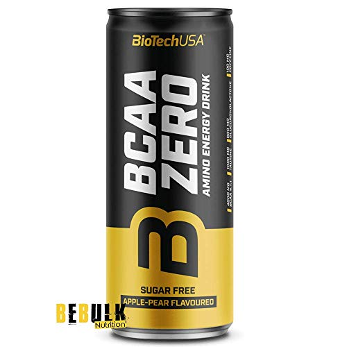 BioTech USA BCAA Zero Amino Energy Drink, 24 x 330 ml Dose (Apfel-Birne)