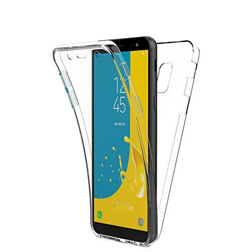 New&Teck® Coque 360 Degré pour Samsung Galaxy J6 2018 – Protection intégrale Avant + arrière en Rigide, Housse Etui Tactile 360 degré – Antichoc, Transparent J6 2018