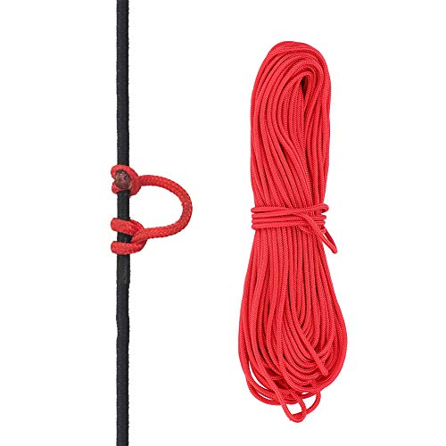 VGEBY D Loop String, Bowstring Loop Archery Compound Bow D-Loop Rope Wire String Bow Release Nock Loop Accessory(Red)