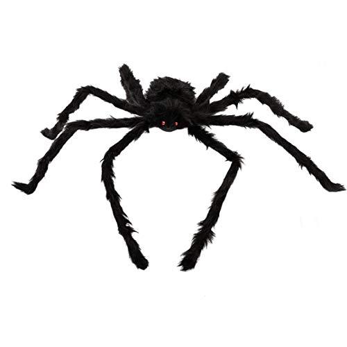Isuper Halloween de Miedo Puntales Simulación Araña Peluda Relleno Creativo de la araña del Partido Juguetes Decoración Apoyos al Aire Libre Patio de la decoración de la Fiesta Negro 50cm Housware