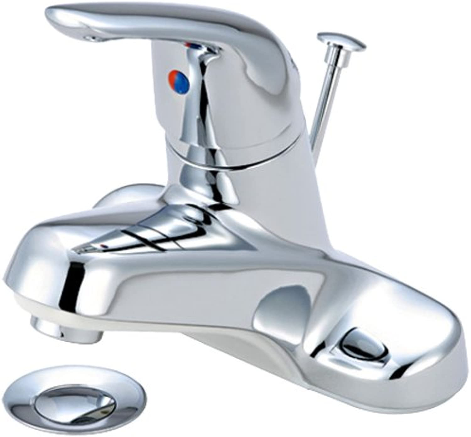 Aviditi Olympia Series L-6162-E1.5 Elite Single Handle Lavatory Faucet and Brass Pop-Up Drain Assembly with 1.5 GPM Flow Rate, Chrome