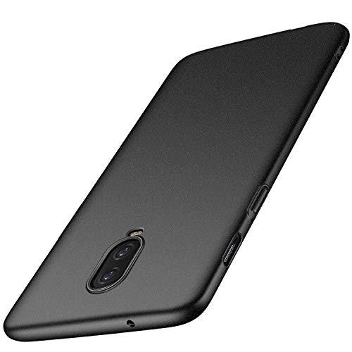 OnePlus 6T Hülle, Anccer [Serie Matte] Elastische Schockabsorption & Ultra Thin Design für OnePlus 6T (Kies Schwarz)