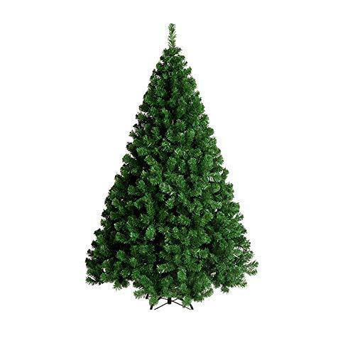 MIMI KING Arbre De Noël Artificiel Éteint Vert Easy Montage Metal Stand pour Maison Centre Commercial Intérieur Extérieur,5.9Ft