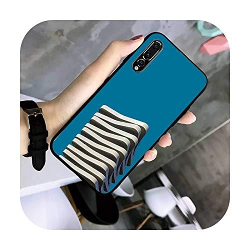uulalala minimalista arquitectura teléfono caso TPU caso para Huawei G7 G8 P7 P8 P9 P10 P20 P30 Lite Mini Pro P Smart Plus-a8-para P20Lite