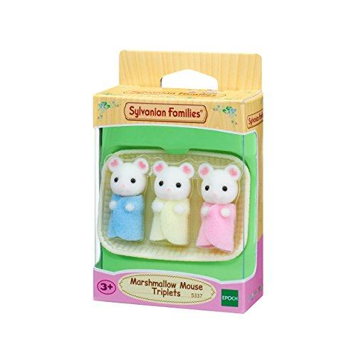 Sylvanian Families 5337 Marshmallow Mäuse Drillinge - Figuren für Puppenhaus