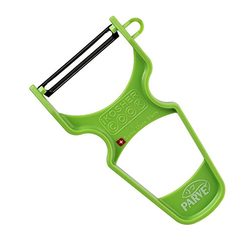 Parve Green Y Vegetable Peeler - Heavy Duty, Ultra Sharp Carbon Steel Swiss Blade, Ergonomic Plastic Handle - Color Coded Kitchen Tools by The Kosher Cook