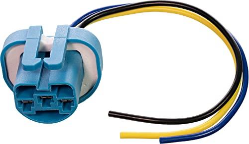 APDTY 95802 Super Bright White High Temp Headlight Bulb Socket Wiring Harness...