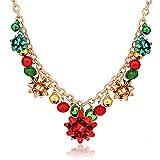 XOCARTIGE Christmas Necklace X-Mas Jingle Bell...