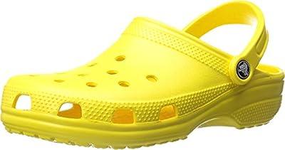 Crocs Unisex Men's and Women's Classic Clog, Lemon, 9 US by Crocs