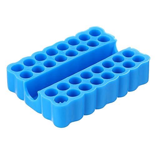 ZOYOSI 2Pcs Plastic Screwdriver Bit Storage Rack Storage Deck Box 32 Holes for 1/4 Inch Hex Shank Screwdrivers