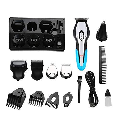 4-in-1 draadloze tondeuse Multifunctionele elektrische tondeuse Oplaadbare scheermes-scheerkapset Haarknippen voor baard, haar en lichaam.