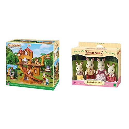 SYLVANIAN FAMILIES Casa De Aventuras En El Árbol Doll House (Epoch para Imaginar 05494) + 4150 Familia Conejo Chocolate