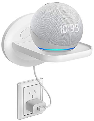Bovon Kleines Wandregal, Wandhalterung Kompatibel mit Dot 3, Sonos, Google WiFi, Smart Heim Lautsprecher & Handy, Smart Ladestation mit Kabelanordnung, Perfekte Lösung für Sache Weniger als 15 lb