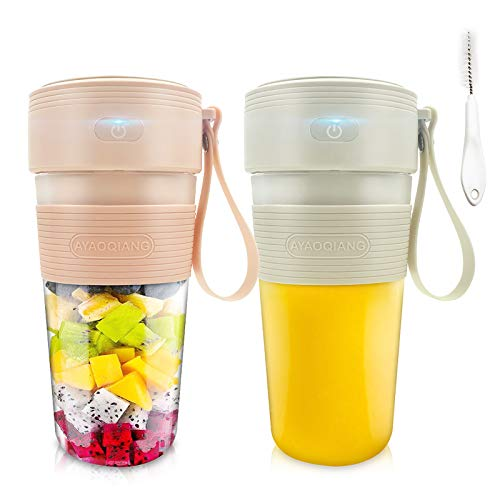 Mixer Smoothie Maker, Tragbarer Mixer, Mini Elektrischer Entsafter für Smoothies und Shakes, USB Portable Juicer Blender für Haushalt, Reise, Outdoor-300ml.