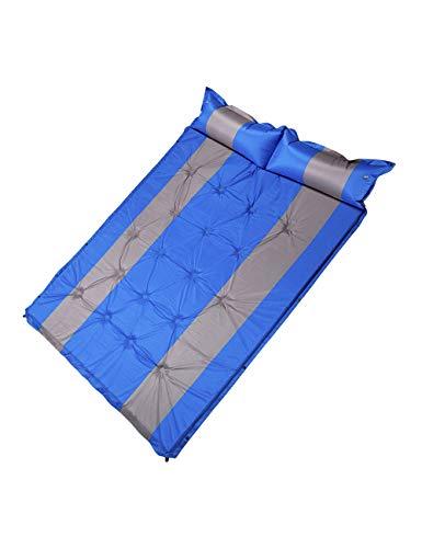 besbomig Selbstaufblasbare Isomatte Camping Luftmatratze Selbstfüllend mit Kopfkissefür 190 x 135 Doppelte Matratze Selbstaufblasende Schlafmatte für 2 Personen Strand Outdoor Reise Wandern