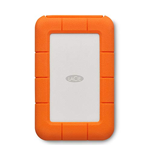 LaCie Rugged Thunderbolt, tragbare externe Festplatte 2 TB, 2.5 Zoll, Thunderbolt, USB-C, PC & Mac, inkl. 2 Jahre Rescue Service, Modellnr.: STFS2000800