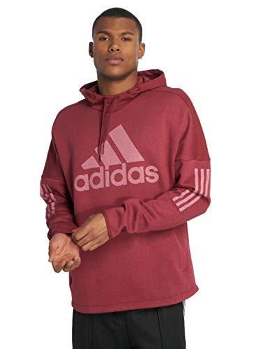 adidas Herren Sports ID Logo Po Fleece Kapuzen-Sweatshirt, Noble Maroon Melange/Noble Maroon, S