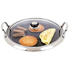 A GORGOUS GRIDDLE: The Chefs Secret 12 element Griddle with non-stick coating is elegant and durable with a stylish mirror finish that looks so good youll be happy to serve food right from the griddle to the table. IDEAL FOR INDUCTION COOKING: Crafte...