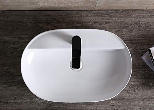 Art-of-Baan® - Design Waschbecken Aufsatzwaschbecken Waschtisch Waschschale Keramik mit Lotus Effekt 810 x 395 x 115 mm weiß 0073
