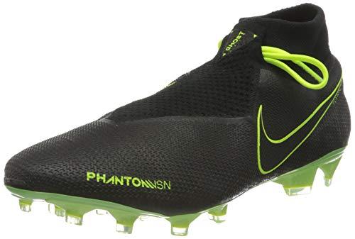 Nike Phantom Vision Elite Dynamic Fit Fg, Scarpe da Calcio Unisex-Adulto, Black Black Volt, 42.5 EU