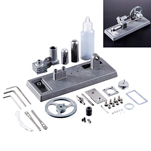 TETAKE Stirlingmotor Selbst Bauen DIY Stirlingmotor Bausatz Sterling Motoren Stirlingmotor Modell Stirling Engine Kit für Technikinteressierte Bastler