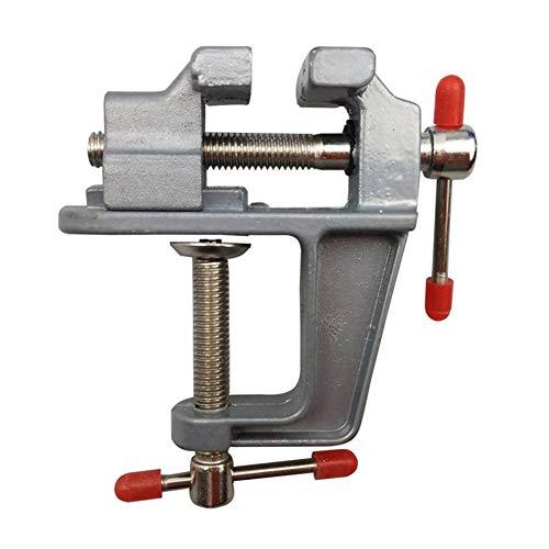 Kyt-my Mini-Tisch Vise Aluminiumlegierung Schraubstock Drehsperre Clamp Craft Hobby Heimwerkzeug-Zubehör for DIY Fertigkeit-Mold Fest Reparatur