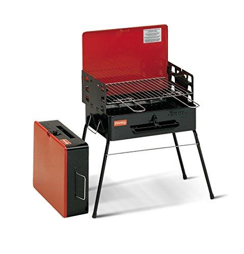 Ferraboli Camping Parrilla Carro Carbón Vegetal Negro, Rojo - Barbacoa (Parrilla, Carbón Vegetal, Carro, Parrilla, Negro, Rojo, Rectangular)