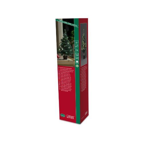 Konstsmide 3512-100 / Albero di Natale LED 60cm con Vaso e Catena di luci / 24 diodi Bianco Caldi/a Batteria/Cavo Verde