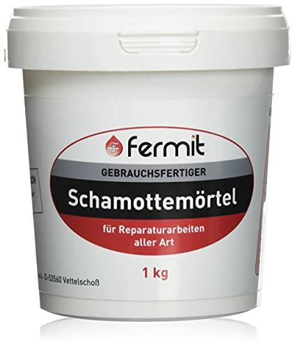 Fermit Schamottemörtel 1kg feuerfest Kleber Mörtel Schamottmörtel