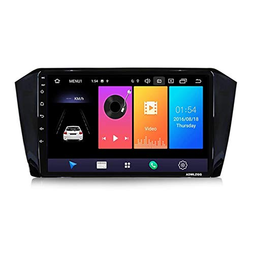 ADMLZQQ 9 Pulgadas Android 10.0 Radio Automóvil Navegación GPS para VW Passat B8 Magotan 2015-2018, Bluetooth/FM/Ámara De Marcha Atrás/Controles del Volante / 4G+WiFi,7862 (8core 4+64g)