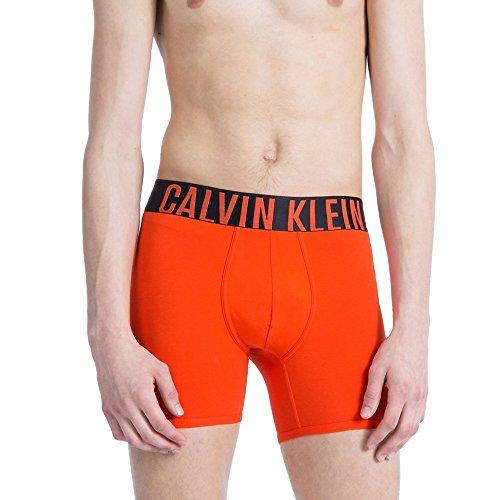 Calvin Klein Men's Underwear Intense Power Premium Smooth Cotton Boxer Brief Wide Waistband NB1043 (Oriole, Small)