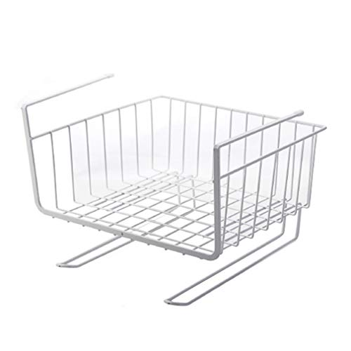 Metall unter dem Regal Finishing Desk Rack Partition Cabinet Hanging Basket (Weiß)